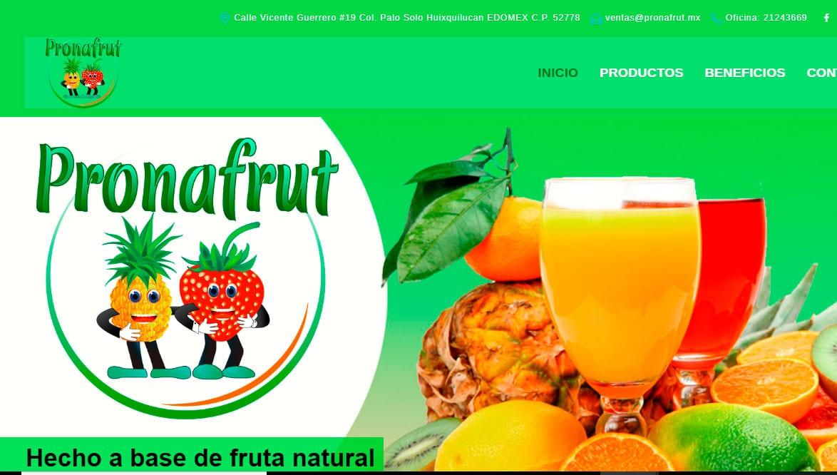 Ejemplo de pagina web frutas