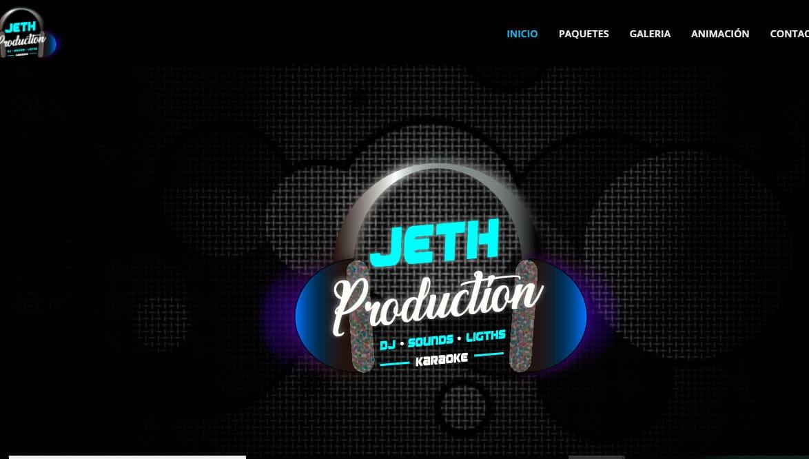 Ejemplo de pagina web dj