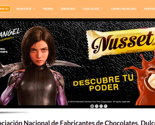 Ejemplo de pagina web chocolates