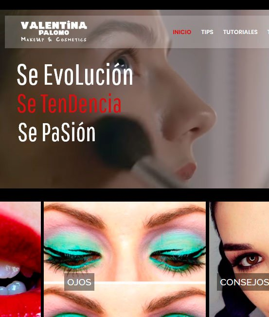 Ejemplo de tiendas virtuales maquillajes