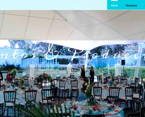 Ejemplo de pagina web renta de mesas y sillas
