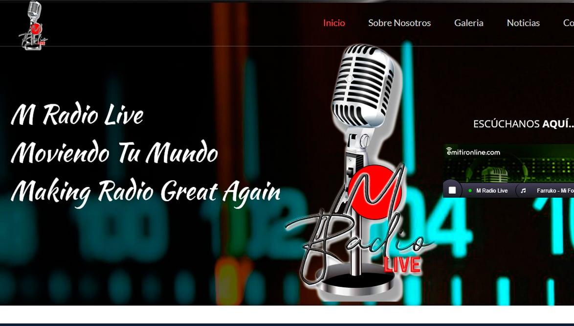 Ejemplo de pagina web de radio online