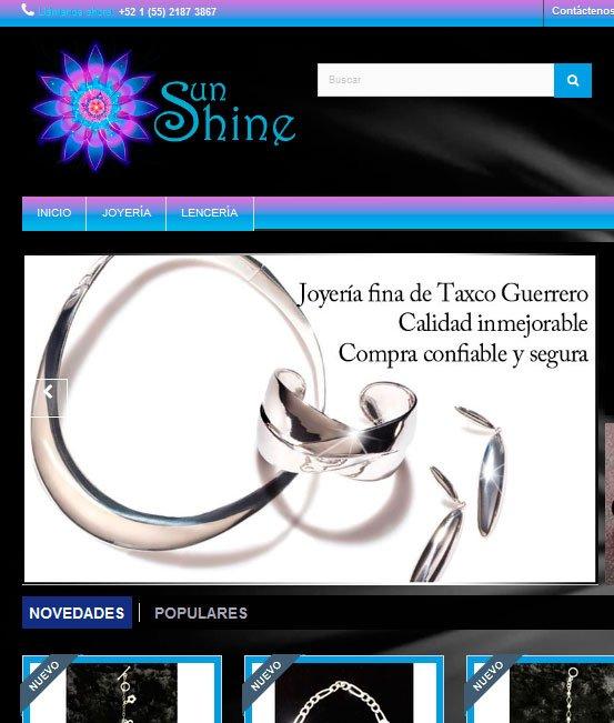 Ejemplo de tiendas virtuales joyas