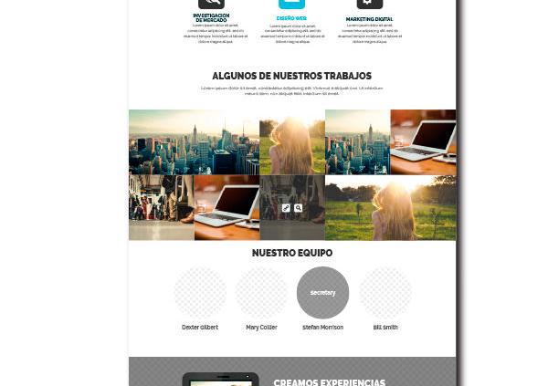 Paginas web one page